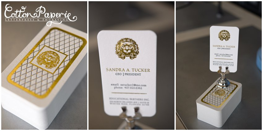 Blog Gold foil letterpress business cards