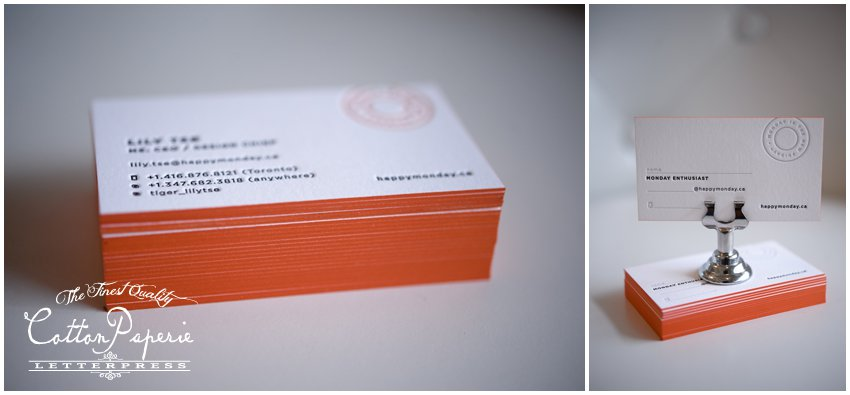 cottonpaperie letterpress business cards on crane lettra and edge paint